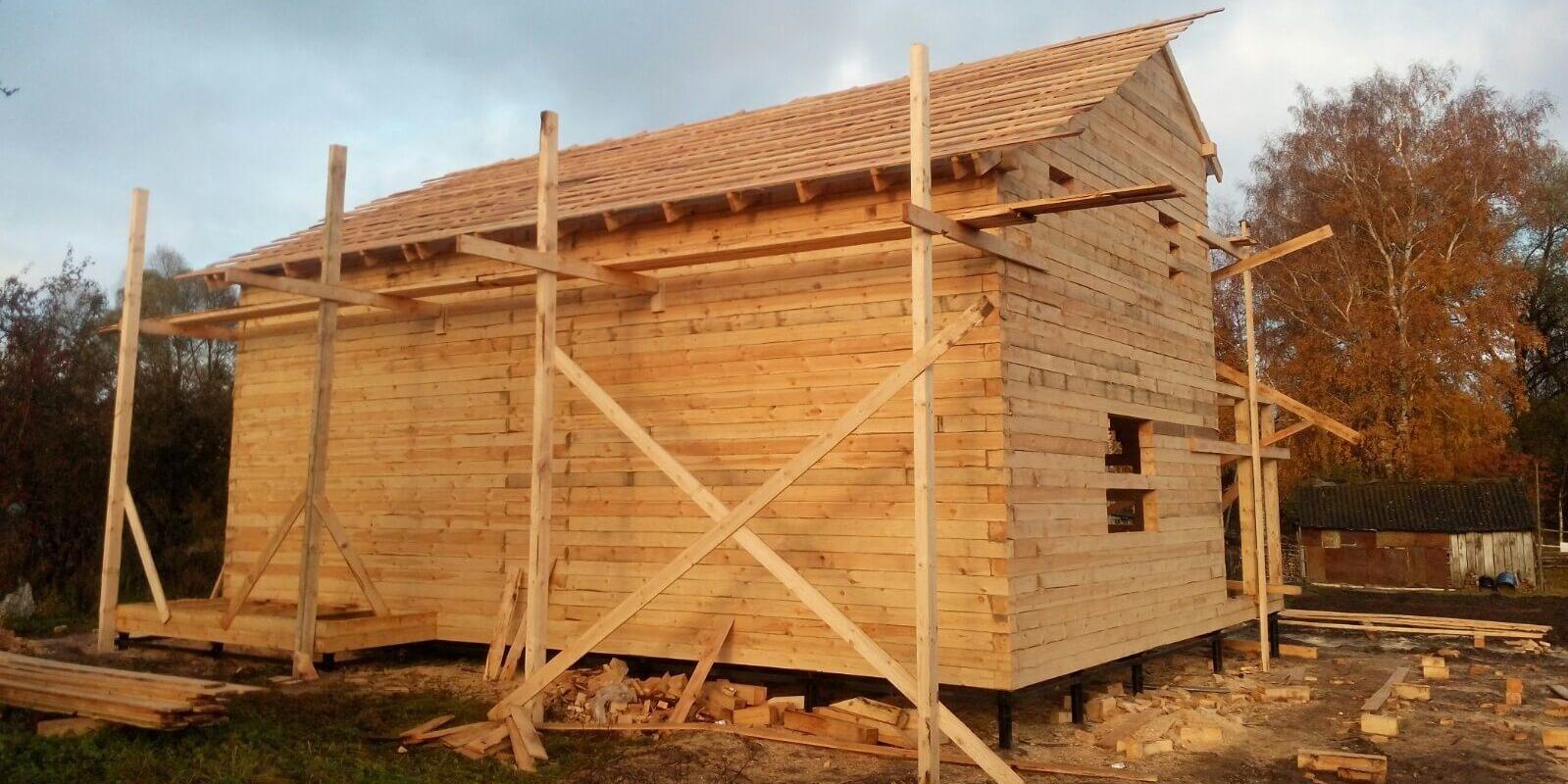 Дом из профилированного бруса своими руками Строительный 44